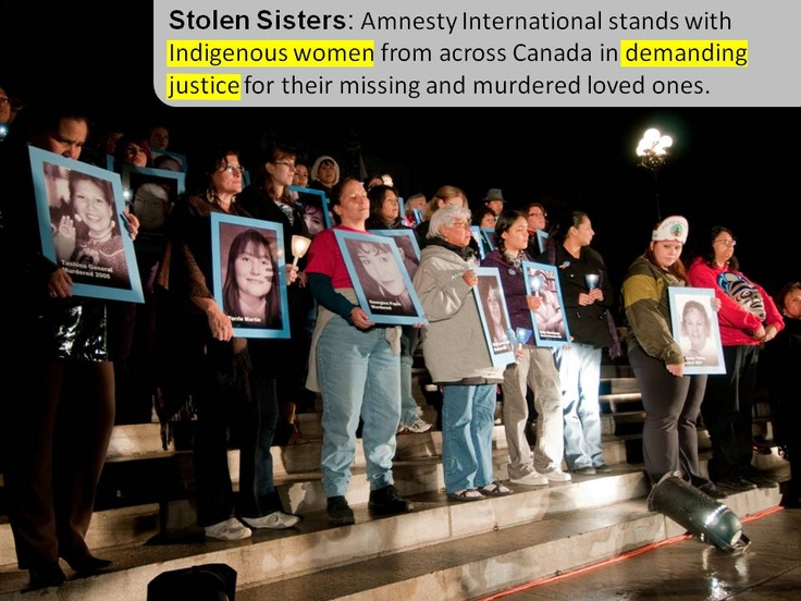 Stolen Sisters: Amnesty International stands with Indigenous women from across Canada in demanding justice for their missing and murdered loved ones.