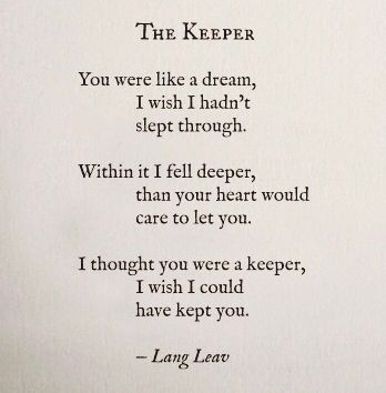 Lang Leav poetry