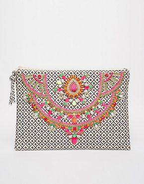 Star Mela Arla Embellished Clutch