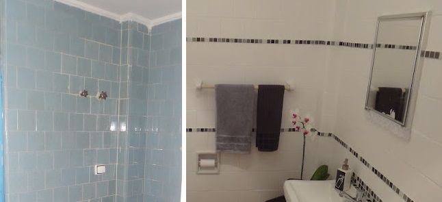 Como falei no último post, a ideia da minha mãe era pintar banheiros com tinta epóxi. No caso dela são banheiros novos, ou seja, banheiros que não têm azulejo. Mas a tinta epóxi também pode ser usa...