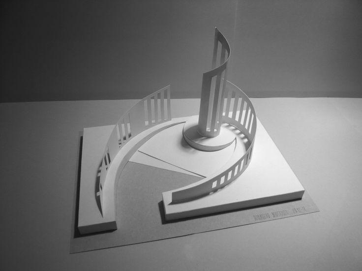 Глубинно-пространственная композиция, бум., клей., картон
