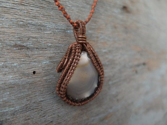 Wire Wrapped Necklace Gemstone Pendant Wire Wrapped by OCcreation