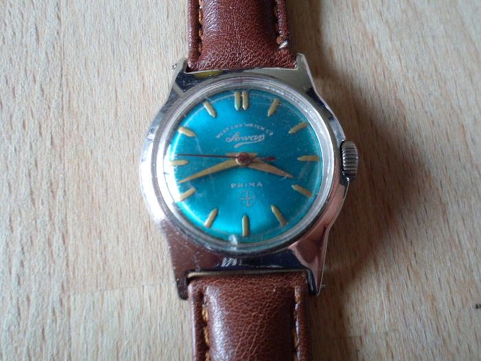 Currently at the #Catawiki auctions: West End Watch Co. 'Sowan' Prima - Vintage c.1950's wrist watch - Gents/boys/...