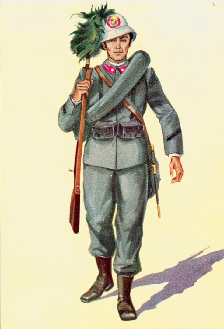 Regio Esercito - Bersagliere, uniforme da campagna coloniale, 1911