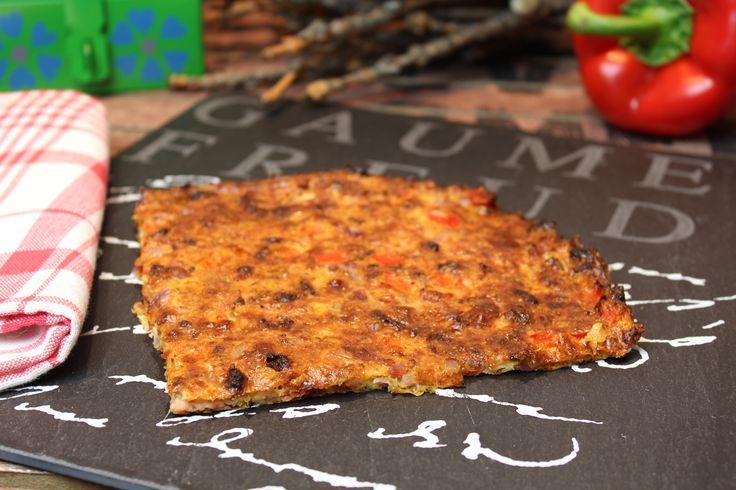Low Carb Rezepte von Happy Carb: Schüttelpizza.