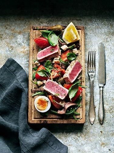 Food presentation, rustic style