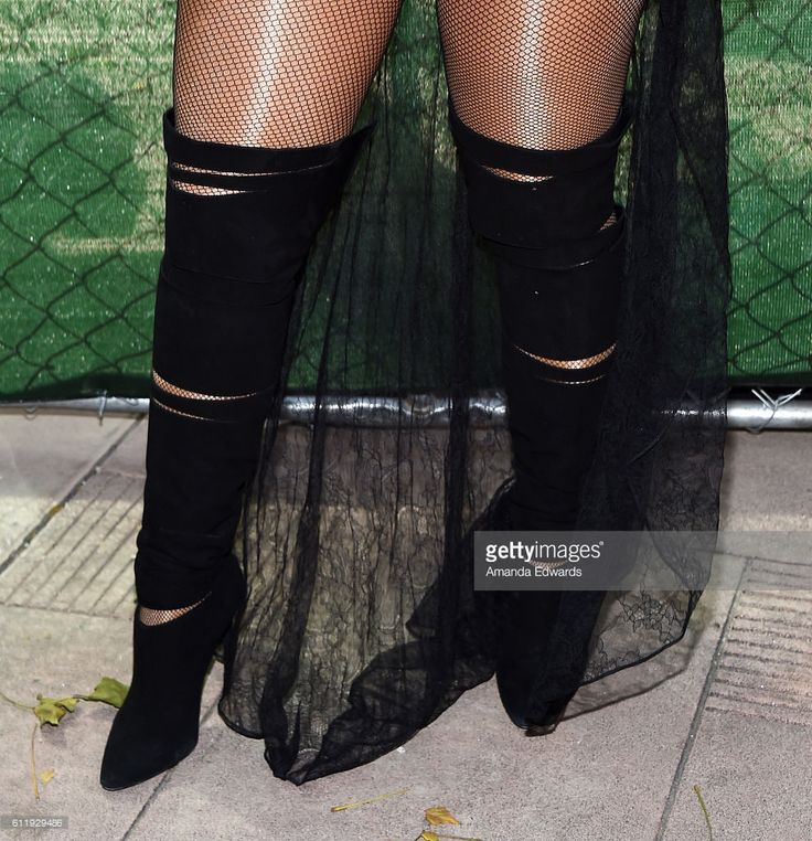 Model Amber Rose, shoe detail, attends the Amber Rose SlutWalk 2016 at Pershing Square on October 1, 2016 in Los Angeles, California.
