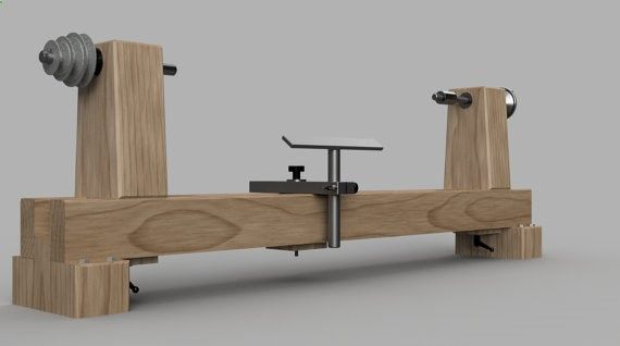This is a set of downloadable plans for a woodturning lathe. You can customize the length of this machine to your needs, and you can build a lathe capable of turning long pieces for a fraction of the cost of a commercial model. Youll need a table saw, miter saw and drill press to make this lathe. The tool rest has one welded joint, which can be done by a local machine shop for a few dollars. You can bolt these parts together, but a weld is recommended. Most of the parts can be purchase...