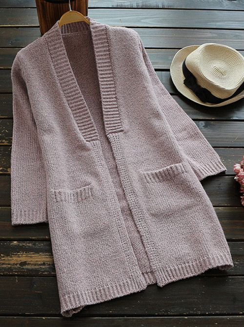 Look here! This cute open front sweater features solid color and comfy fit, and we love it for those casual days. Wear it, now!