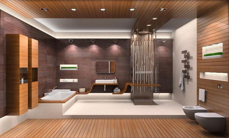 деревянные стены,ванна,большая ванная комната