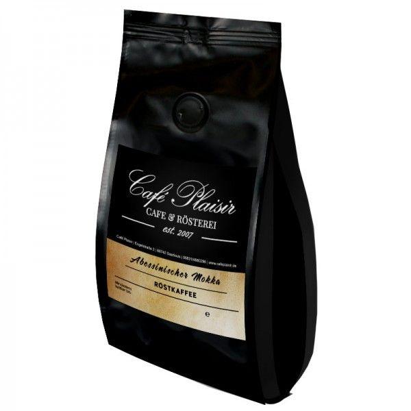 Abessinischer Mokka  Säurearmer, also sehr magenfreundlicher Kaffee aus Äthiopien, mit starkem Körper, leicht erdiger Geschmack. Sehr gute Fülle und eben die Mocca Würze.