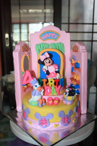 1000 Images About Minnie Boutique Cake On Pinterest