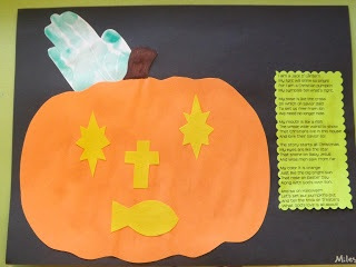 the christian jack o lantern craft that we did in our classroom sherry - Religious Halloween Crafts