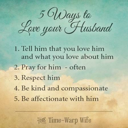 husbands ways show your wife love