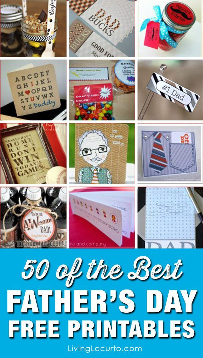 50 Father S Day Free Printables Best Fathergifts Ideas For Menhomemade