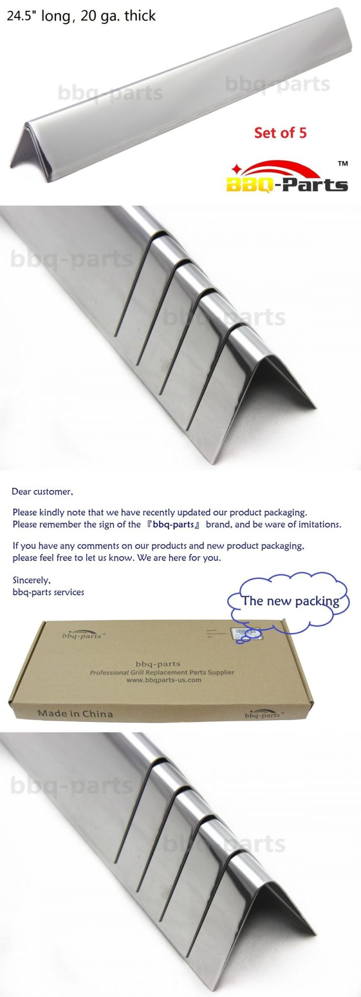 BBQ and Grill Replacement Parts 177018: Stainless Steel Flavorizer Bars Weber Grill Gas Genesis Heat Plate Replace 5Pcs -> BUY IT NOW ONLY: $33.09 on eBay!