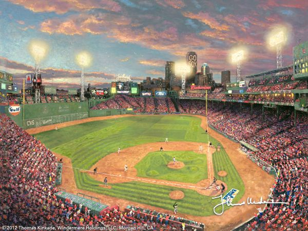 Fenway Park by Thomas Kinkade and last but not least the last one in my collection. This one is above my fireplace