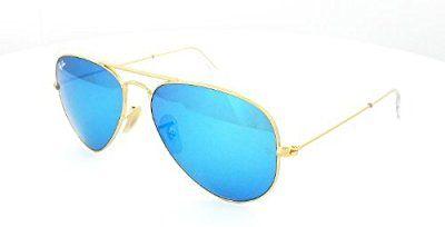 b5b9ac3e4a Ray Ban Aviator RB3025 112/17 gafas de sol, marco dorado, cristal azul