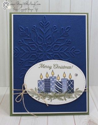 Stampin' Up! Merry Patterns CAS Christmas Card – Stamp With Amy K