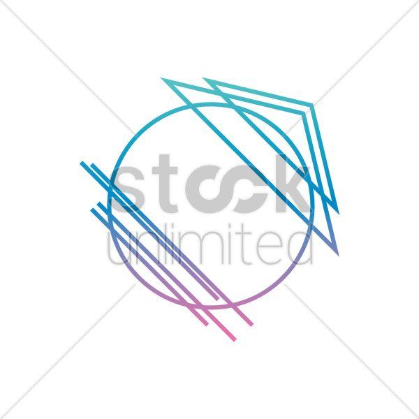 geometric logo element Stock Vector