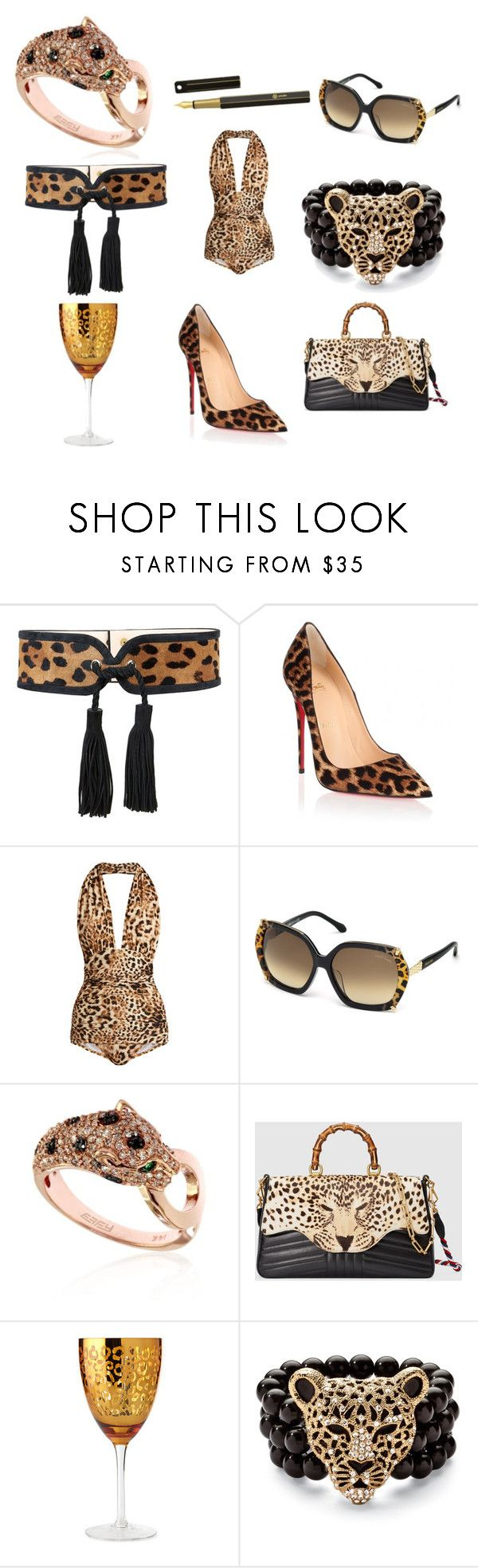 """WILD & WICKED"" by marguerite-dillworth on Polyvore featuring Balmain, Christian Louboutin, Norma Kamali, Roberto Cavalli, Effy Jewelry, Gucci, Artland, Palm Beach Jewelry and ystudio"