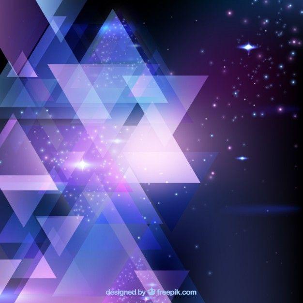 Błyszczące tła trójkąty Darmowych Wektorów