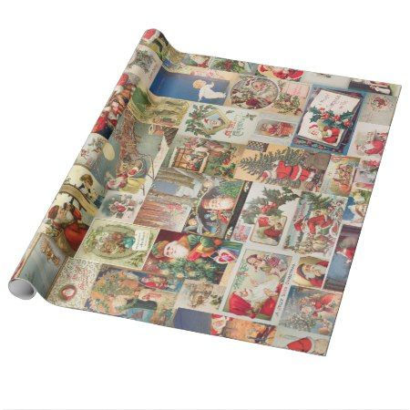 Vintage Christmas Cards Holiday Pattern Wrapping Paper - click to get yours right now!