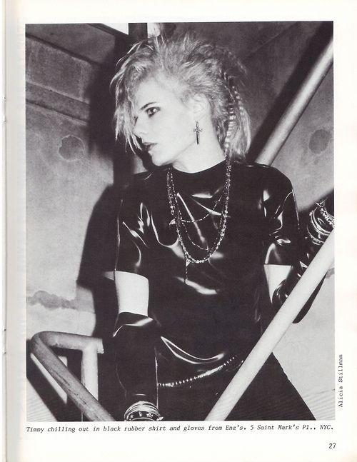 Fetish / Goth Fusion, via scan of Propaganda Magazine † Photo by Alicia Stillman † #fetish #fashion #fetishfashion #black #latex #shiny #rubber #beautiful #hot #androgynous #male #model #malemodel #fetishboy #crimped #bleachblond #bleach #blonde #platinum #hair #goth #aesthetics #religious #iconography #rosary #rosaries #worn #as #necklackes #jewelry #excessive #bracelets #gothic #subculture #magazine #scan #photo #AliciaStillman #PropagandaMagazine