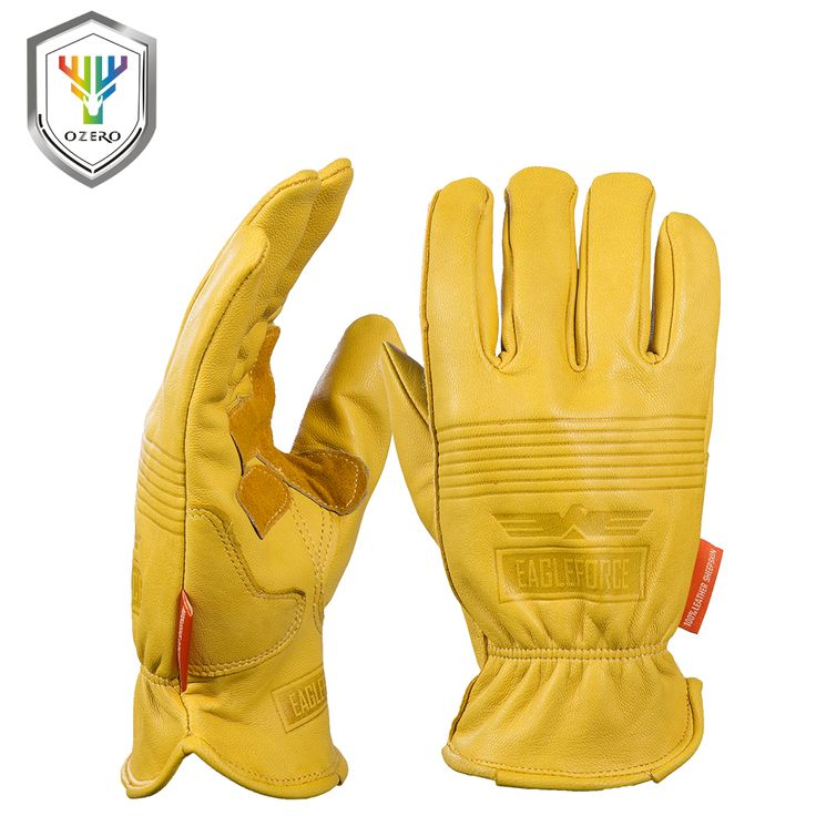 New Men's Work Gloves Goat Leather Security Protection Safety Cutting Working Repairman Garage Racing Gloves For Men 0009