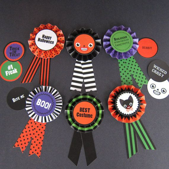 halloween paper award ribbons printable paper craft pdf best in