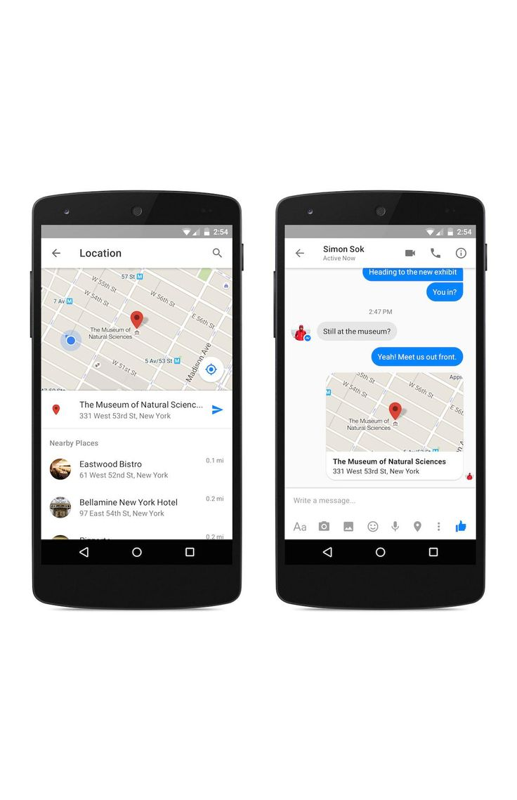 Facebook Messenger now lets users send locations on a map inside the app.