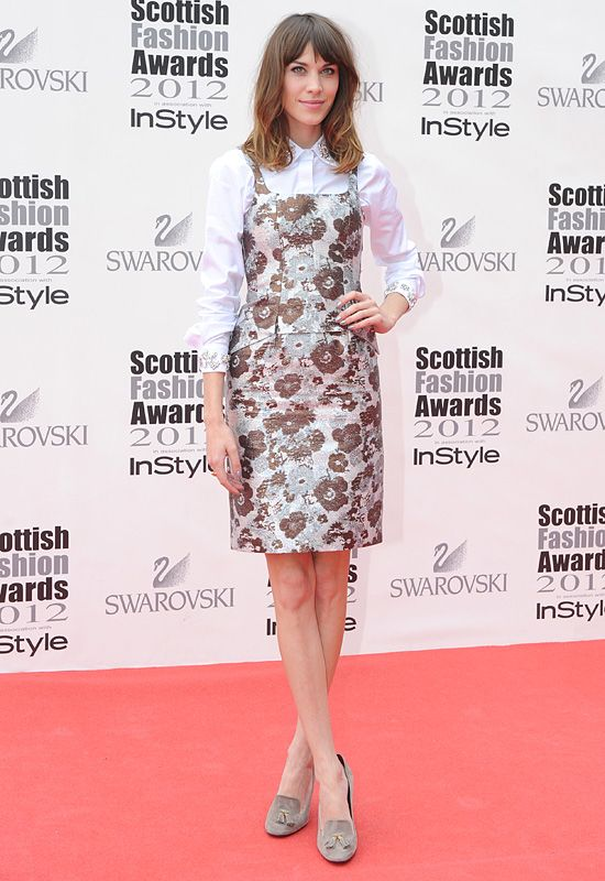 Alexa Chung looking effortlessly stylish in a Christopher Kane Spring 2012 dress: Alexachung, Alexa Chung, Chung Outfit