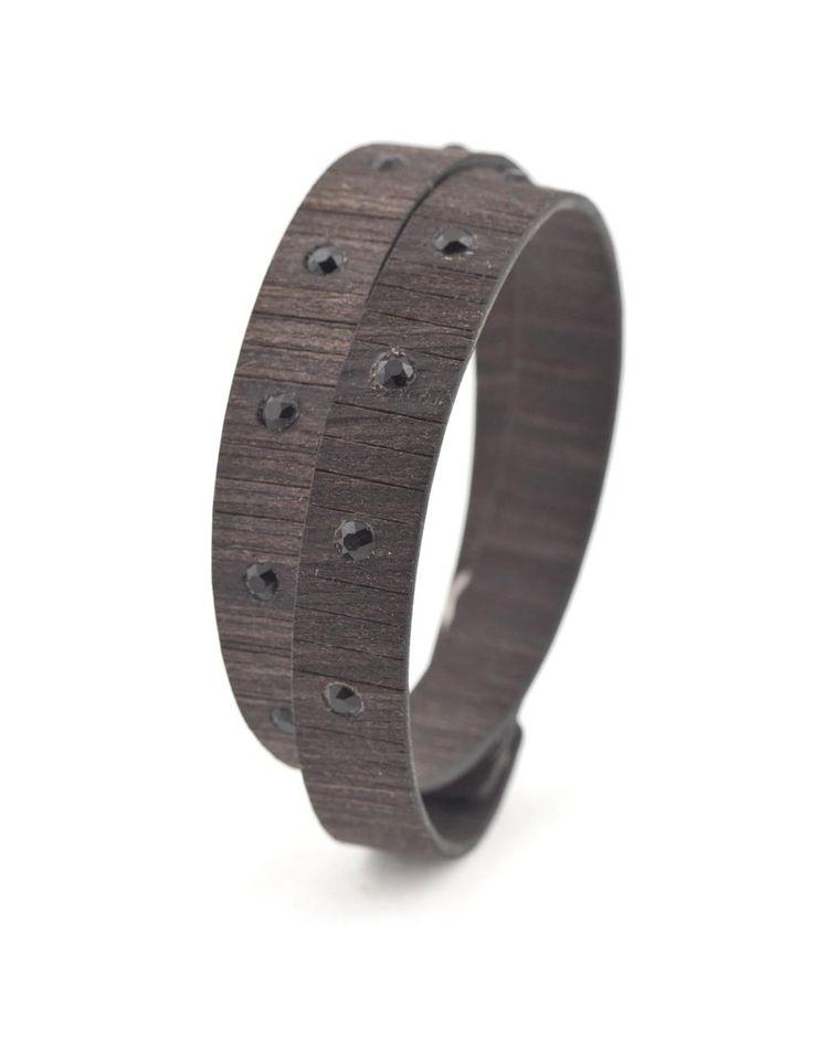 BAD CHIC EBANO #bracelet #fashion #woodbracelet #wood #design #madeinitaly