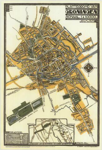 S.J. Bouma, stadsplattegrond Groningen 1924-1926