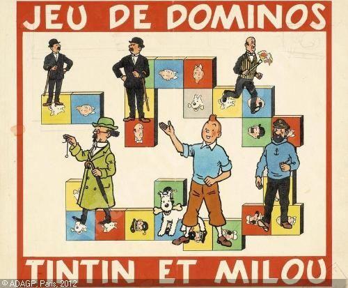 Jeu de dominos tintin et milou jeux ducatifs vintage - Image de tintin et milou ...