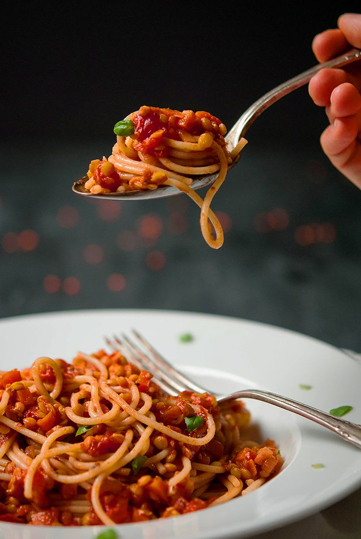 Vegane Linsen-Bolognese - Vegan lentil bolognese