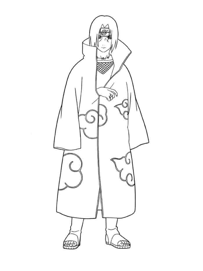 Naruto Coloring Pages To Print Itachi In 2020 Cartoon Coloring Pages Chibi Coloring Pages Tinkerbell Coloring Pages