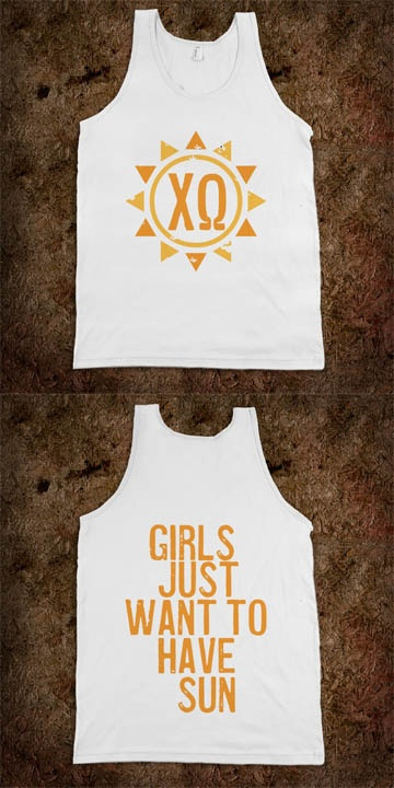 Chi Omega Frat Tanks - Sorority Shirts. CLICK HERE to purchase :) Buy 1 or 100!