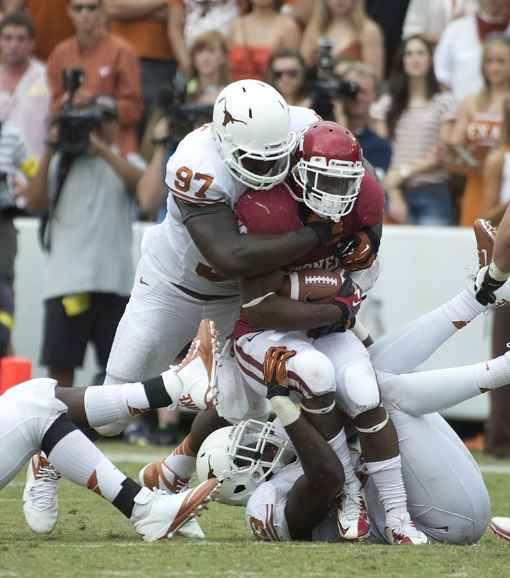 Brandon Moore (97) Texas football, Football helmets