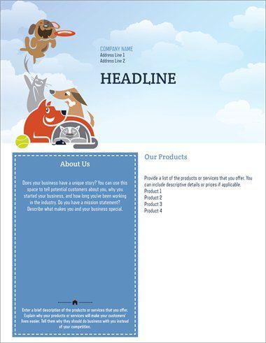 Flyers Templates Designs Page 3 Vistaprint Dog Dogs Flyer