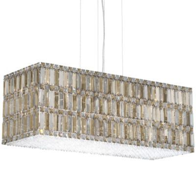possibly over dining table  Quantum Blocks Rectangle Linear Suspension by Schonbek Lighting