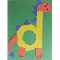 D for Dinosaur letter craft for preschool and kindergarten