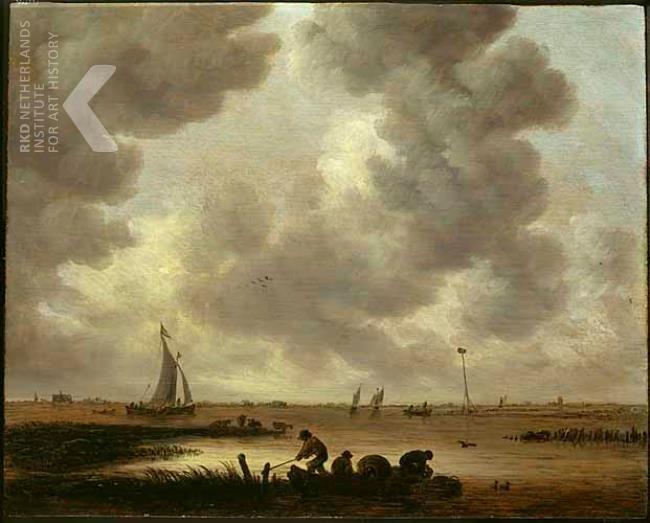 Jan Josefsz. van Goyen, Gezicht op de Haarlemmermeer (aan de horizon de St. Bavo), 1647, paneel olieverf, 30,5 x 38,5cm. Robert Noortman Gallery, Maastricht/Londen 1993.