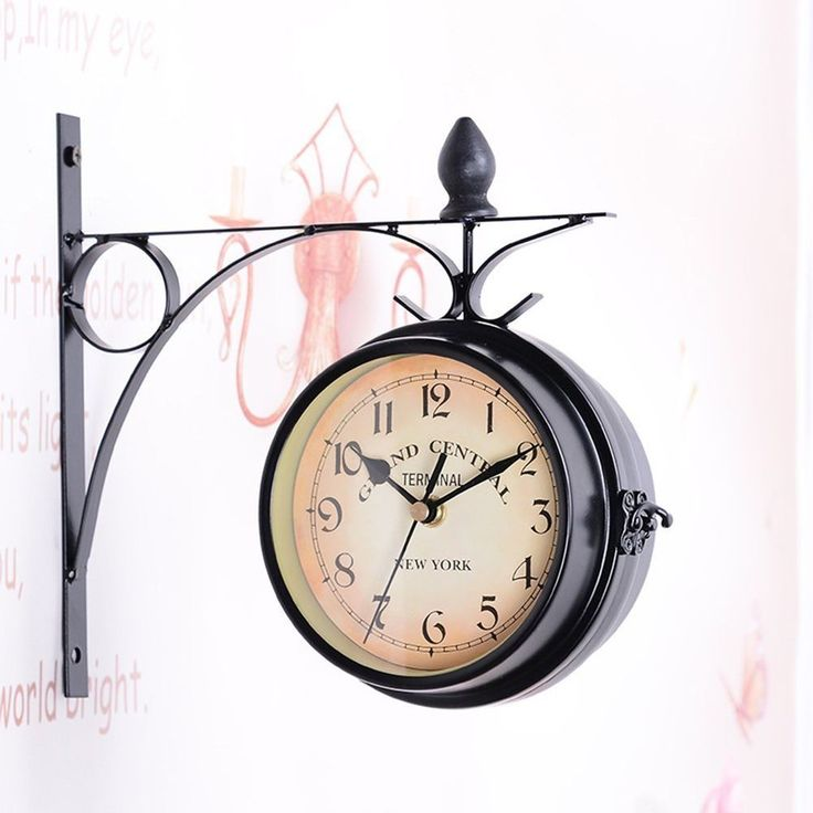 WINOMO European Antique Style Double Side Wall Clock Creative Classic Clocks #WINOMO