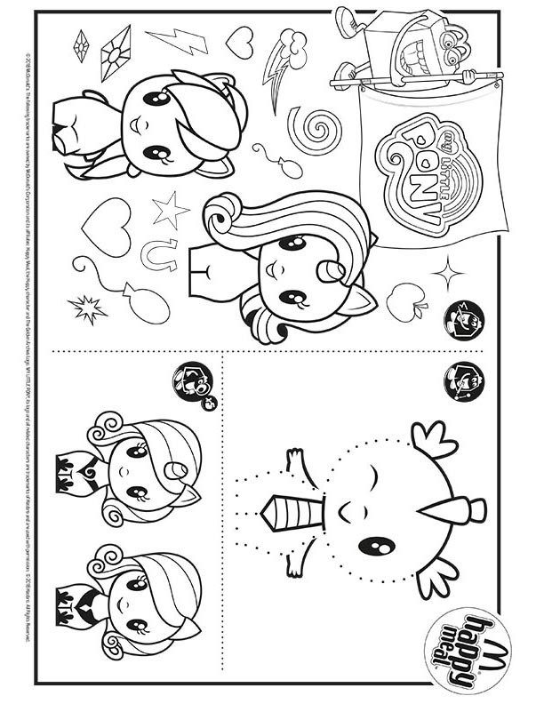 My Little Pony Cutie Mark Crew Mcdonalds Happy Meal Coloring Page