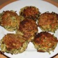 Tasty Zucchini Crab Cakes (secret - no crab in this.  The ingredients combine to taste like crab!