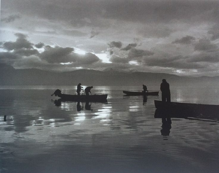 Fishing at dawn, Ioannina 1962 Photo by Kostas Balafas Benaki Museum Photographic Archives