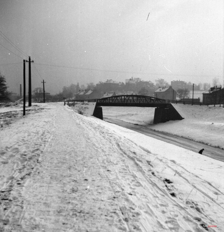Most na Rudawie - al. Focha, Kraków - 1955 rok, stare zdjęcia