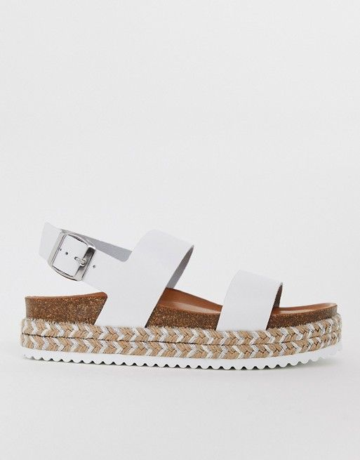 02cfc1bc3a9 ALDO Ruryan leather espadrille sandals in white | ASOS | Sandles n ...
