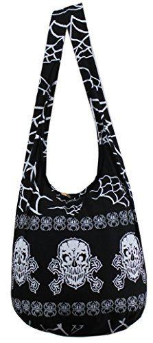 NaLuck Rock Skull Punk gothic celtic Knot Hippie Hobo Sling Cross body Shoulder Messenger Bag PKS01M